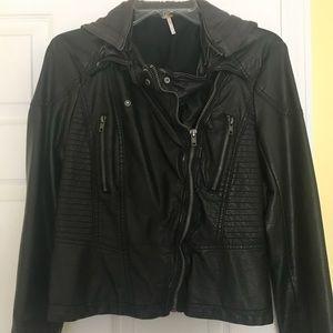 Free people leather jacket